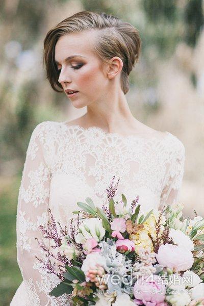 短发拍婚纱照要注意什么 婚纱款式选择有讲究